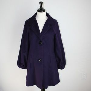 Banana Republic purple wool pea coat